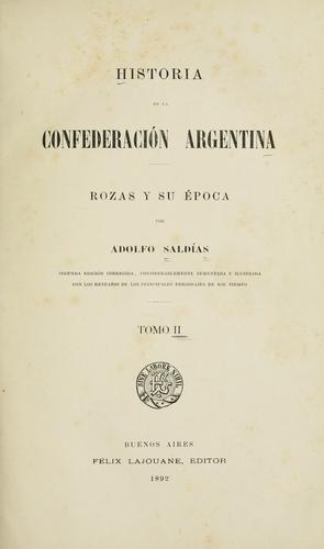 Download Historia de la Confederación Argentina