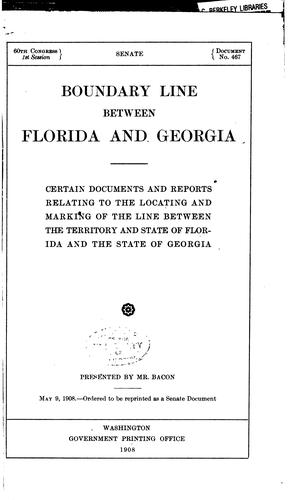 Download Boundary line between Florida and Georgia.