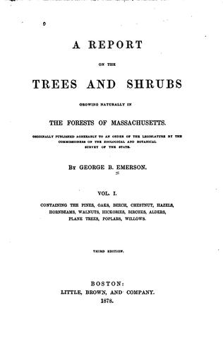 Download A report on the trees and shrubs growing naturally in the forests of Massachusetts.