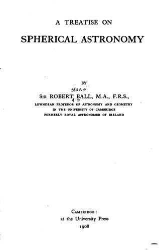 Download A treatise on spherical astronomy