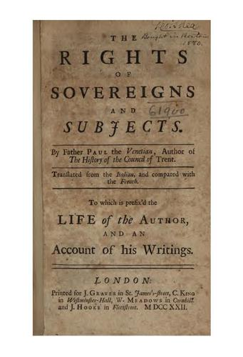 The rights of sovereigns and subjects.