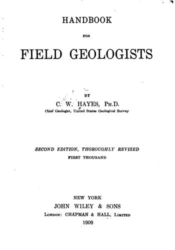 Download Handbook for field geologists