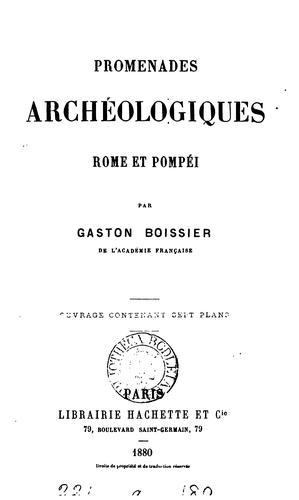 Download Promenades archéologiques