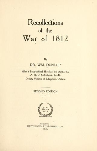 Download Recollections of the war of 1812