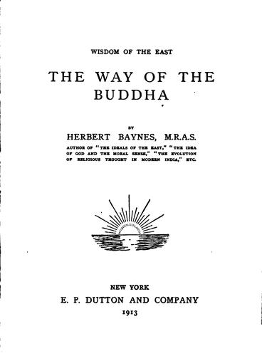 Download The way of the Buddha