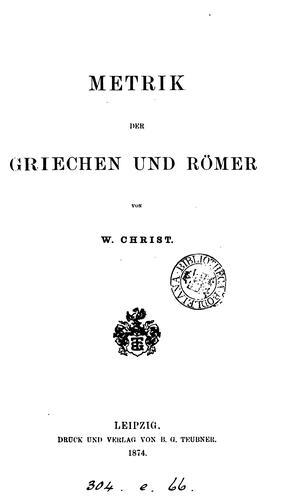 Download Metrik der Griechen und Römer
