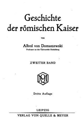 Download Geschichte der römischen Kaiser