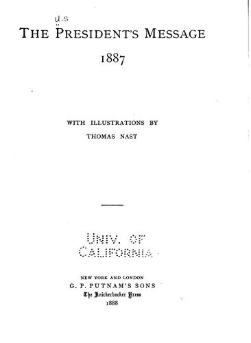 Download The President's message, 1887, of Grover Cleveland