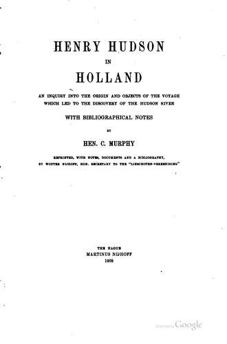 Download Henry Hudson in Holland