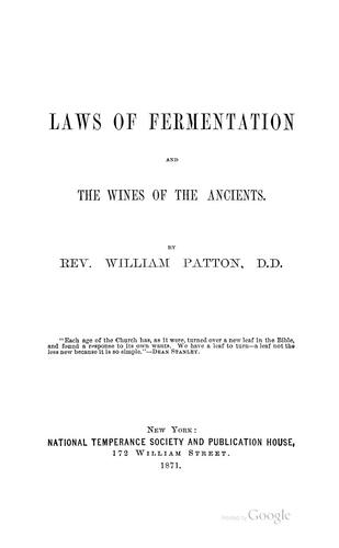 Download The laws of fermentation and the wines of the ancients