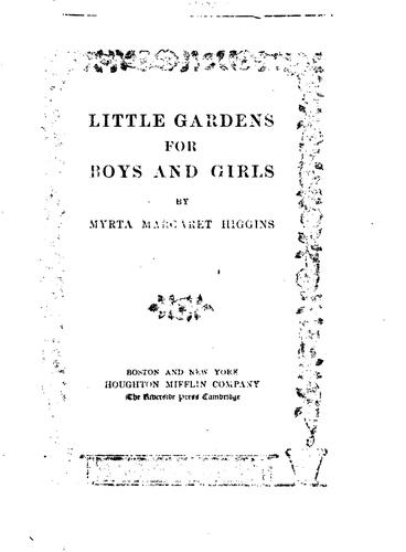 Download Little gardens for boys and girls