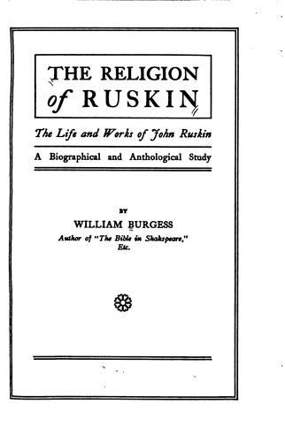 The religion of Ruskin.