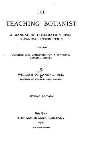 Download The teaching botanist