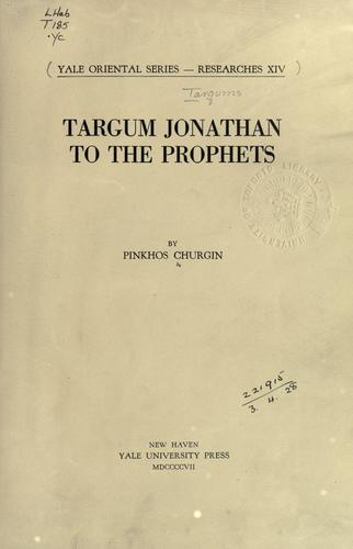 Targum Jonathan to the Prophets.