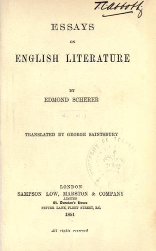 Download Essays on English literature.