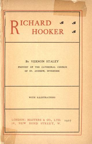 Richard Hooker. —
