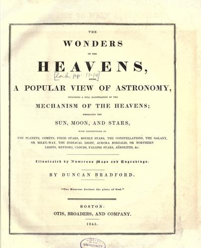 The wonders of the heavens