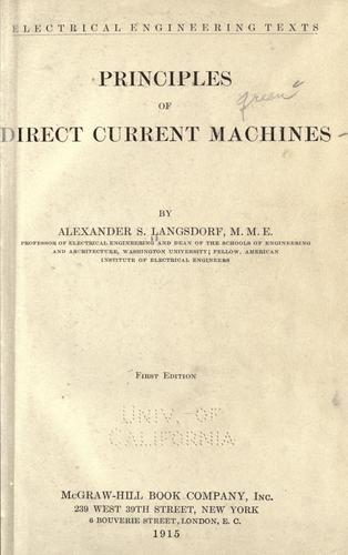 Download Principles of direct current machines