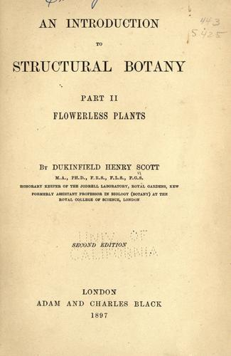 Download An introduction to structural botany
