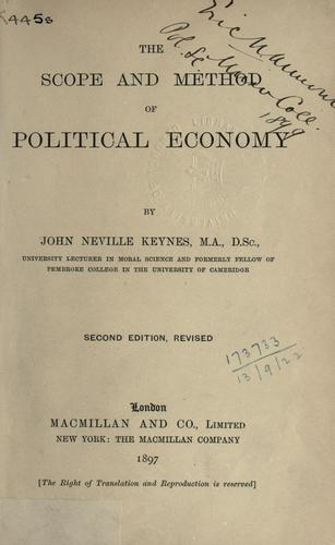 Download The scope and method of political economy.