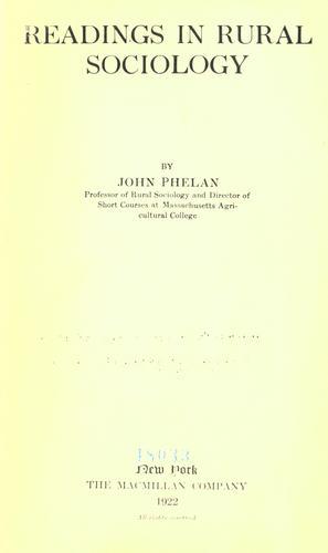 Download Readings in rural sociology