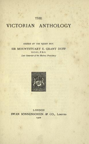 The Victorian anthology