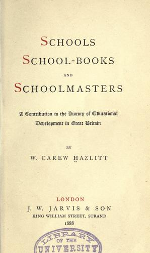 Download Schools, school-books and schoolmasters