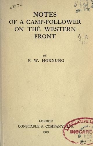 Download Notes of a camp-follower on the western front
