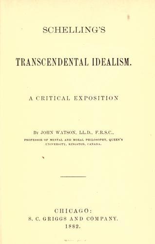 Download Schelling's transcendental idealism