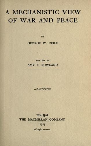 Download A mechanistic view of war and peace.