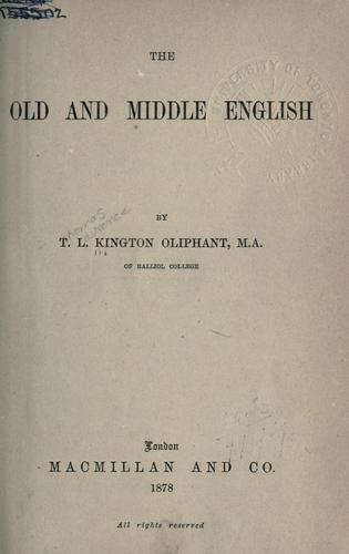 Download The Old and Middle English.