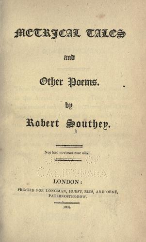 Metrical tales and other poems …