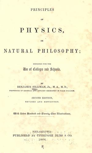 Principles of physics, or, Natural philosophy
