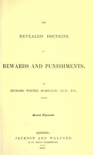 The revealed doctrine of rewards and punishments.