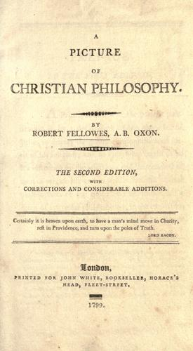 Download A picture of Christian philosophy.