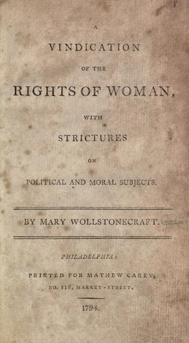 Download A  vindication of the rights of woman