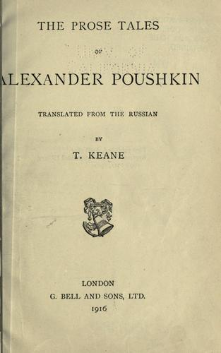 The prose tales of Alexander Poushkin
