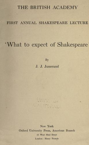 Download What to expect of Shakespeare