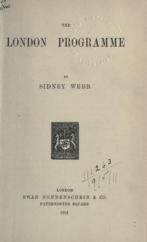 The London programme.