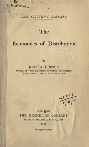 Economics of distribution.