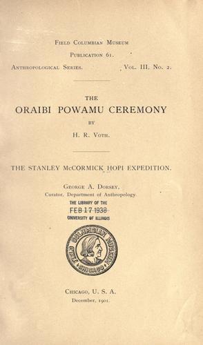 The Oraibi Powamu ceremony