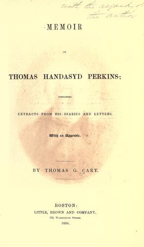 Download Memoir of Thomas Handasyd Perkins