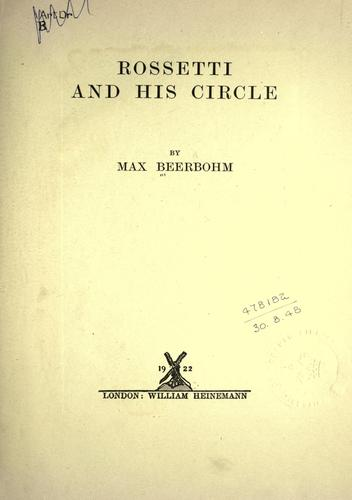 Download Rossetti and his circle.