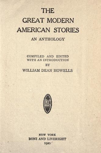 Download The great modern American stories