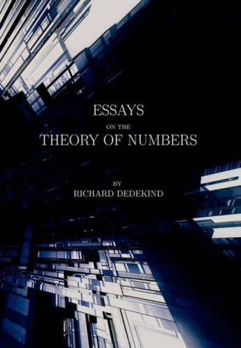 Download Essays on the Theory of Numbers (Second Edition)