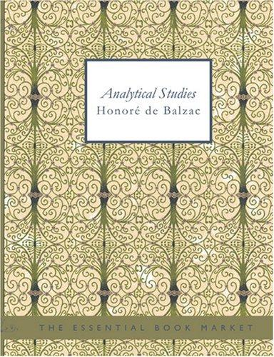 Download Analytical Studies (Large Print Edition)