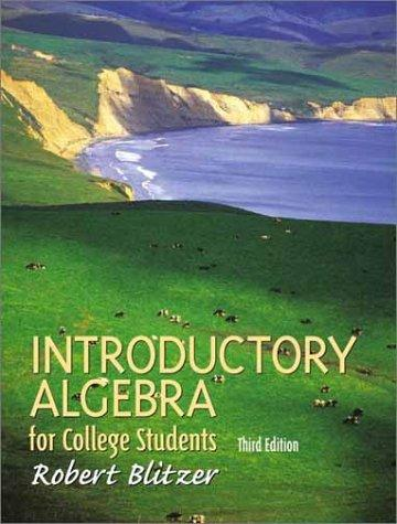 Introductory algebra for college students by Robert Blitzer