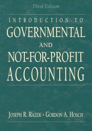 Download Introduction to governmental and not-for-profit accounting