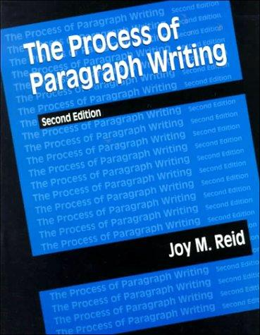 Download The process of paragraph writing