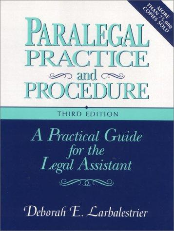 Download Paralegal practice and procedure